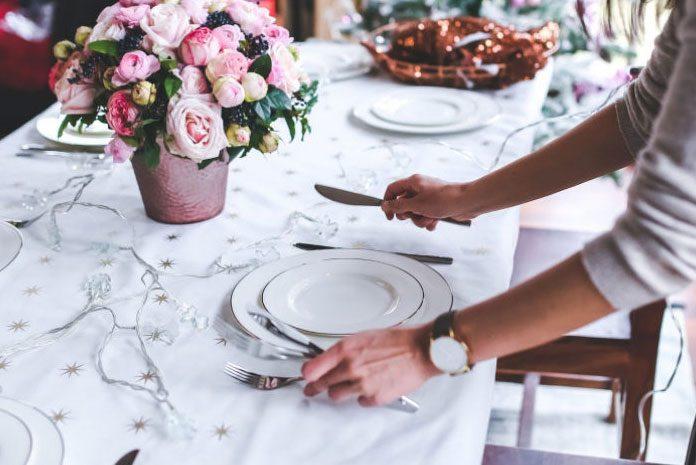 Prawidłowe nakrycie do stołu